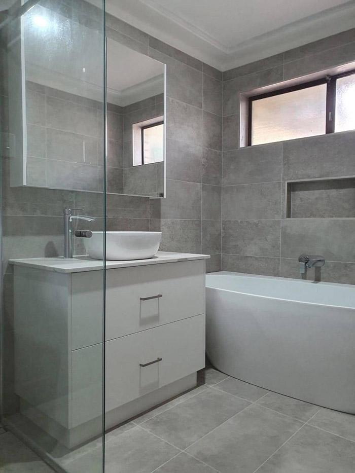 Newly renovated bathroom sink